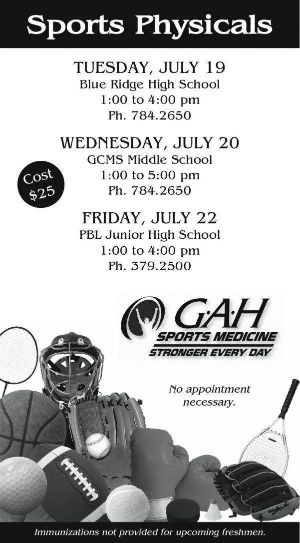 GAH Sports Medicine Offers Sports Physicals