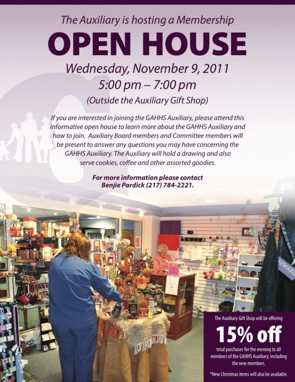 The GAH Auxiliary is Hosting a Membership Open House