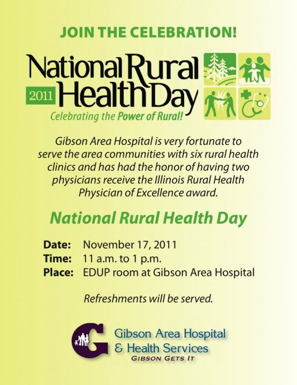 Thursday is National Rural Health Day!