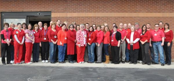 "GAH Employees Wear Red to Support ""Go Red for Women"""