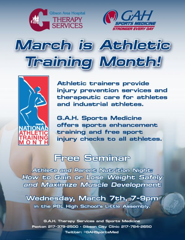 March is Athletic Training Month