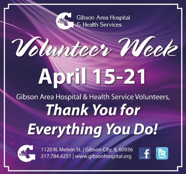 April 15-21 is National Volunteer Week