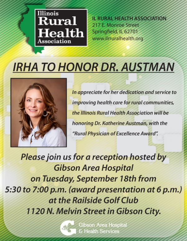 Dr. Austman to be Honored