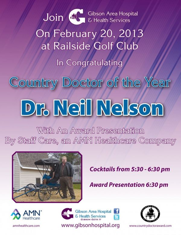 Country Doctor of the Year Award Presentation Announced