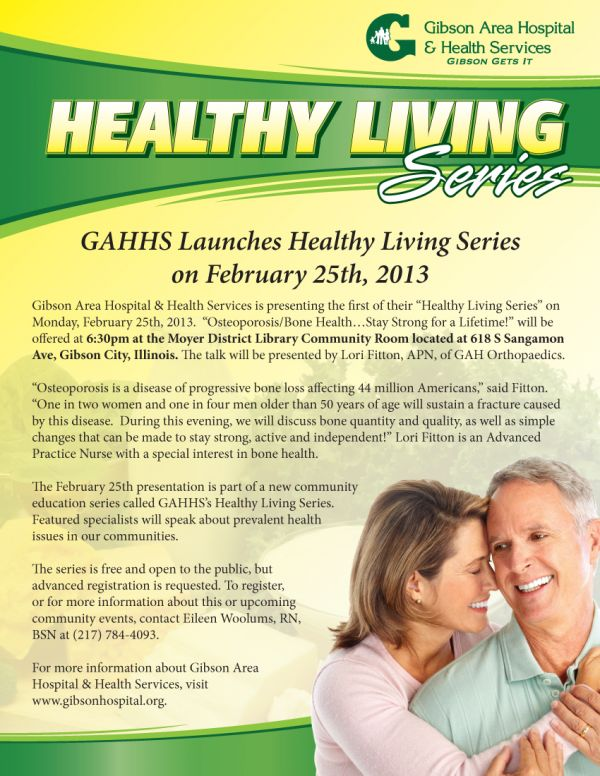 GAHHS Launches Healthy Living Series.