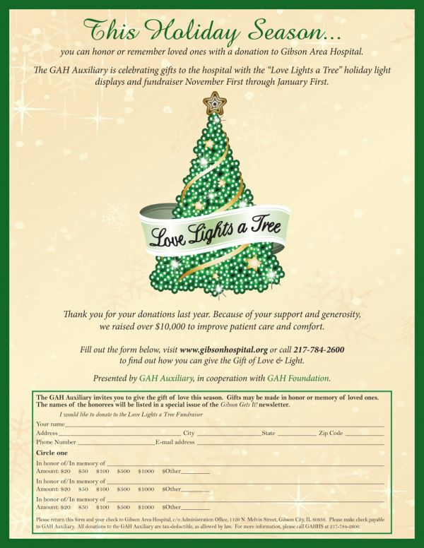 GAH Auxiliary Announces Love Lights a Tree 2013