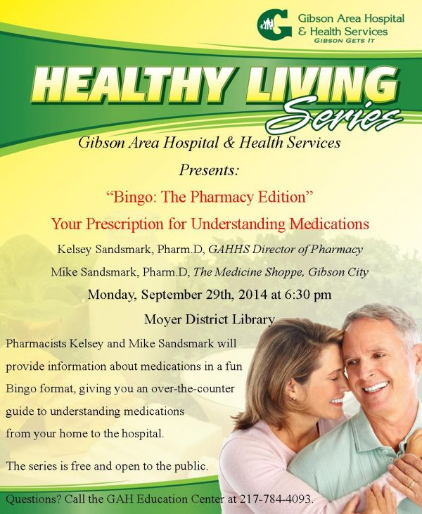 Healthy Living Series Presents: Your Prescrption for Understanding Medications