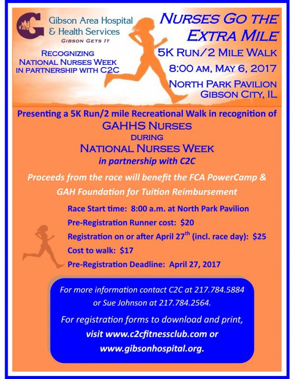 Register Now for the Nurses Go the Extra Mile (5k Run/2 Mile Walk)