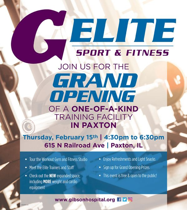 Grand Opening for New Elite Sport and Fitness in Paxton Coming Soon