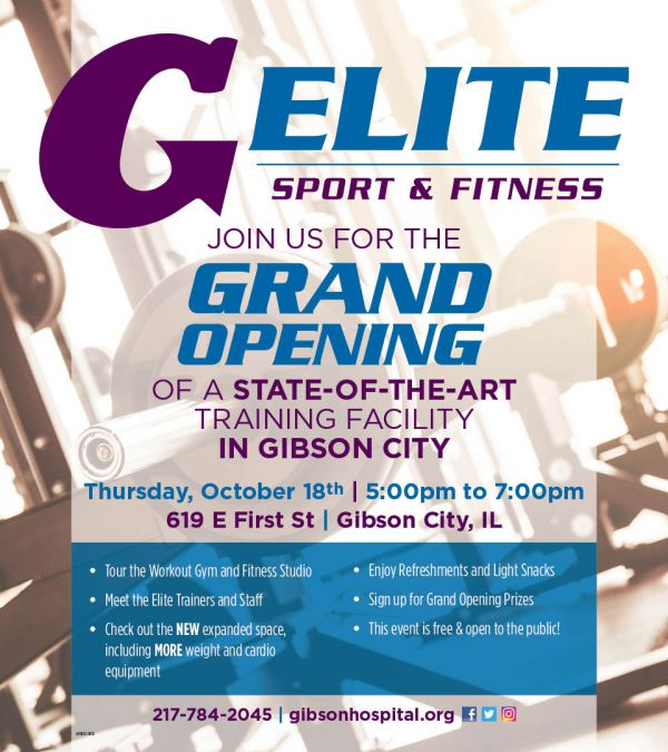 Elite Sport & Fitness Grand Opening Event in Gibson City