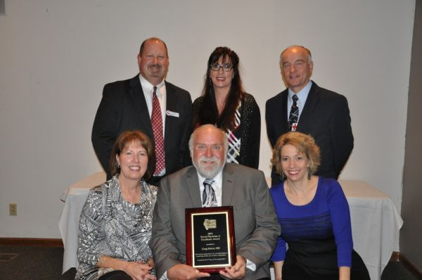 Dr. Delost receives IRHA Rural Physician of Excellence Award